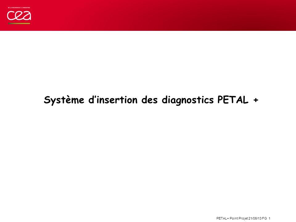 PETAL+ Point Projet 21/06/13 FG 1 Système dinsertion des diagnostics PETAL +