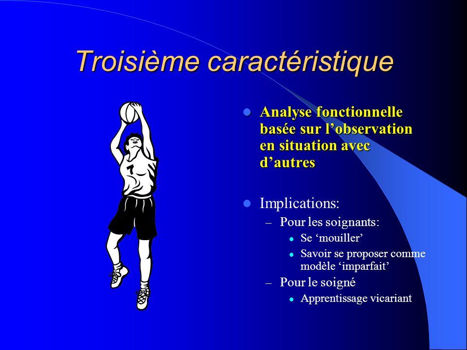 Troisième caractéristique Analyse fonctionnelle basée sur lobservation en situation avec dautres Analyse fonctionnelle basée sur lobservation en situa