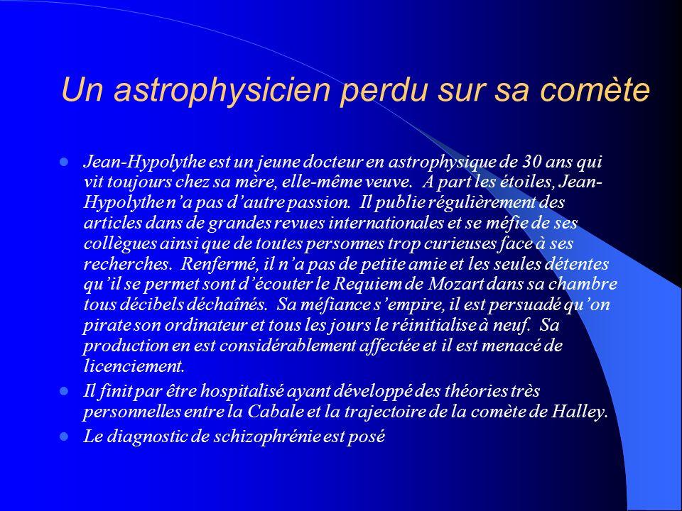 Un astrophysicien perdu sur sa comète Jean-Hypolythe est un jeune docteur en astrophysique de 30 ans qui vit toujours chez sa mère, elle-même veuve. A