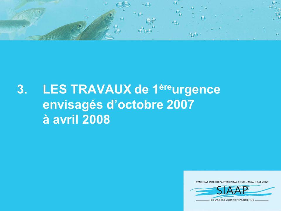 3.LES TRAVAUX de 1 ère urgence envisagés doctobre 2007 à avril 2008