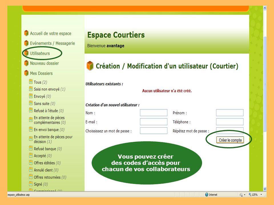 4 : Créer un nouveau Dossier Dans votre espace privé, vous pouvez également :