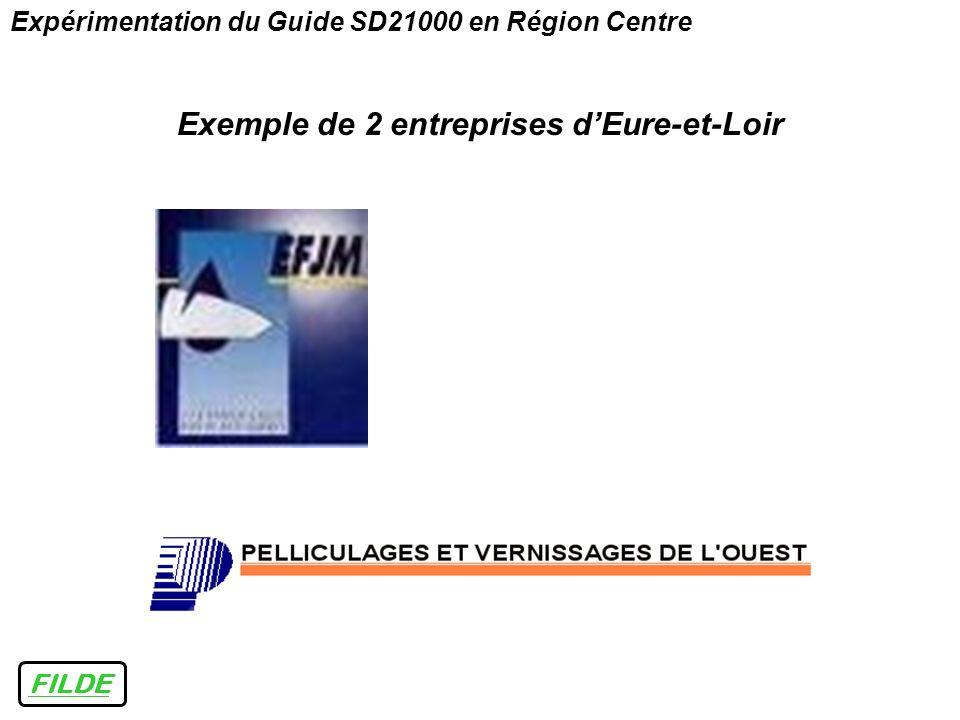 FILDE Expérimentation du Guide SD21000 en Région Centre Exemple de 2 entreprises dEure-et-Loir
