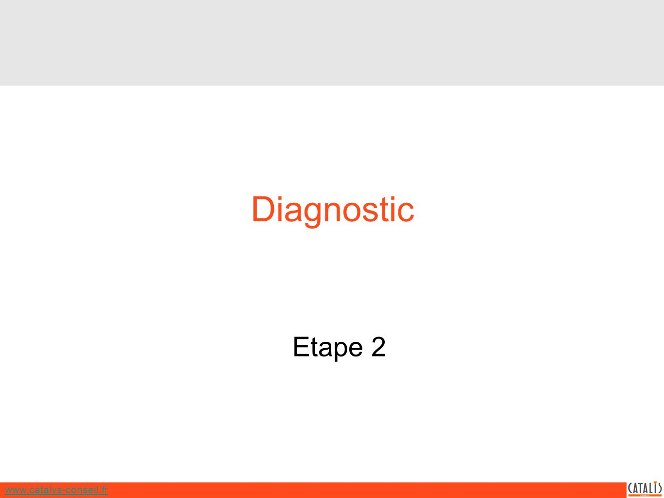www.catalys-conseil.fr Diagnostic Etape 2