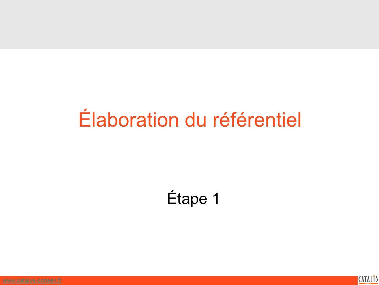 www.catalys-conseil.fr Élaboration du référentiel Étape 1