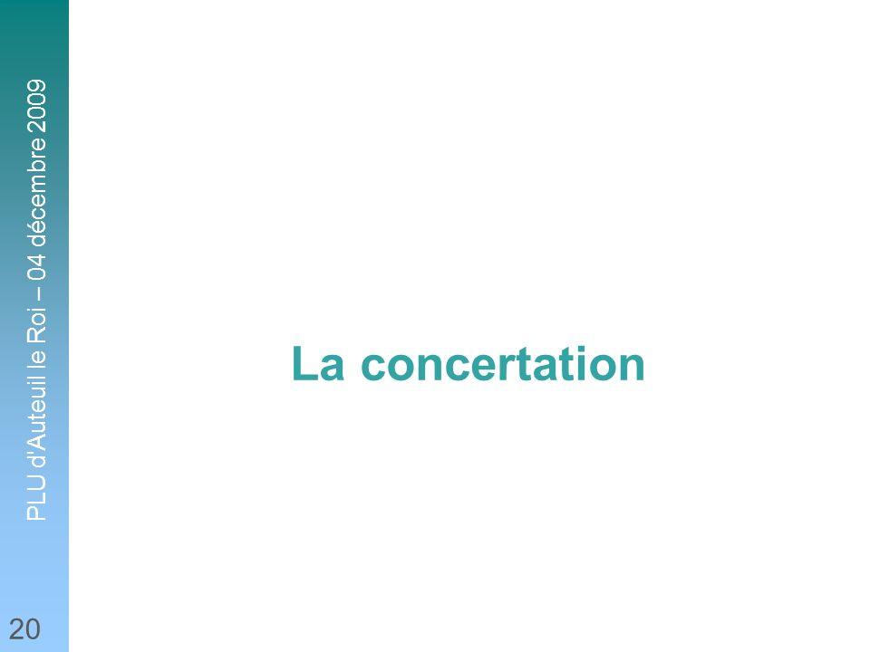 PLU d'Auteuil le Roi – 04 décembre 2009 20 La concertation
