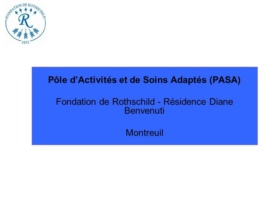 Pôle dActivités et de Soins Adaptés (PASA) Fondation de Rothschild - Résidence Diane Benvenuti Montreuil