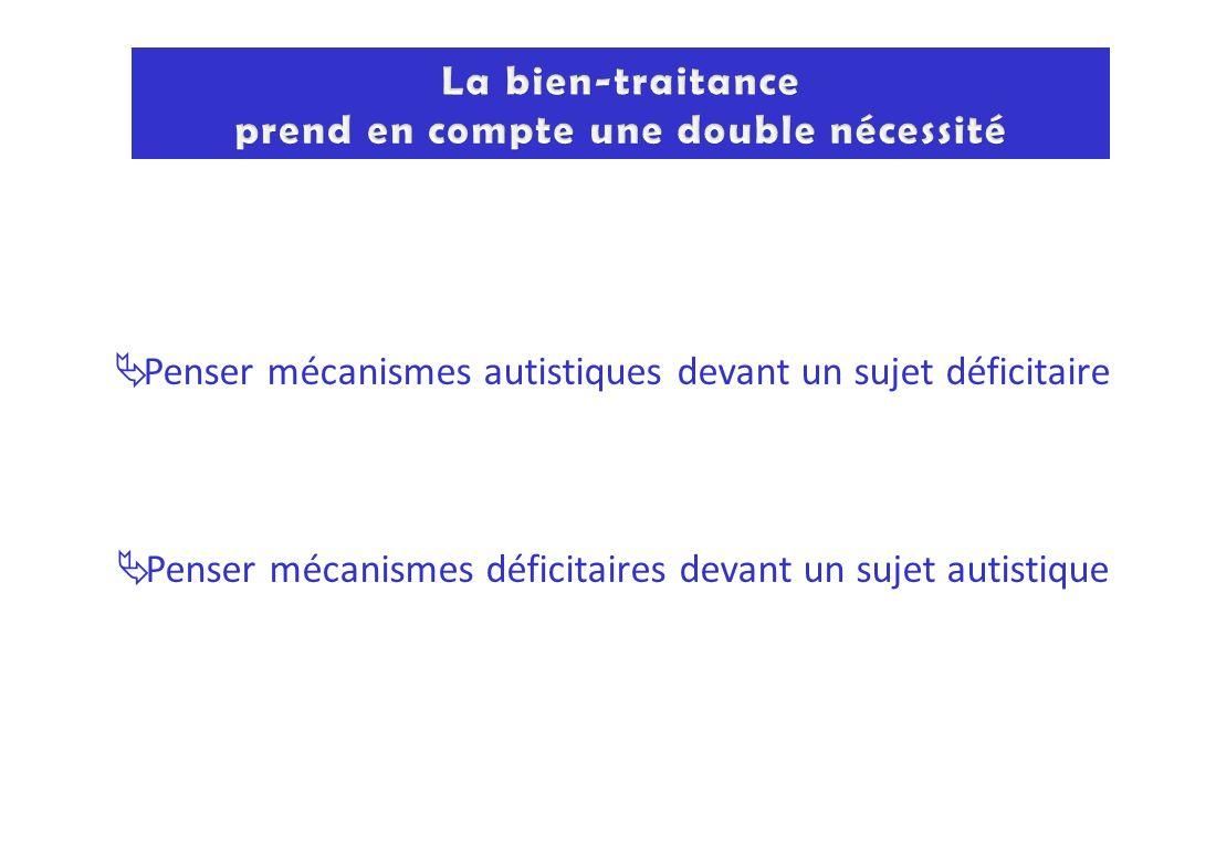 Penser mécanismes autistiques devant un sujet déficitaire Penser mécanismes déficitaires devant un sujet autistique