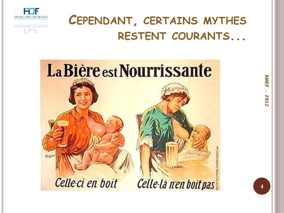 L E CONSEIL D ABSTINENCE : MESSAGE LE PLUS FRÉQUEMMENT DIFFUSÉ 5 RMEF - 2012