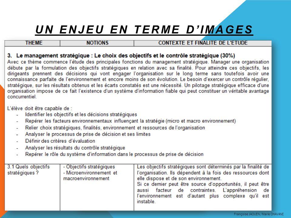 UN ENJEU EN TERME DIMAGES Une réécriture des programmes plus dynamiques Des programmes problématisés Françoise JAOUEN /Marie CHAVANE