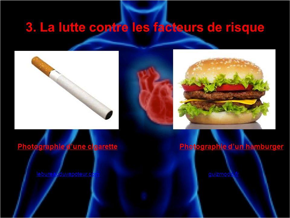 3. La lutte contre les facteurs de risque gu Photographie dune cigarette lebureauduvapoteur.com Photographie dun hamburger guizmodo.fr