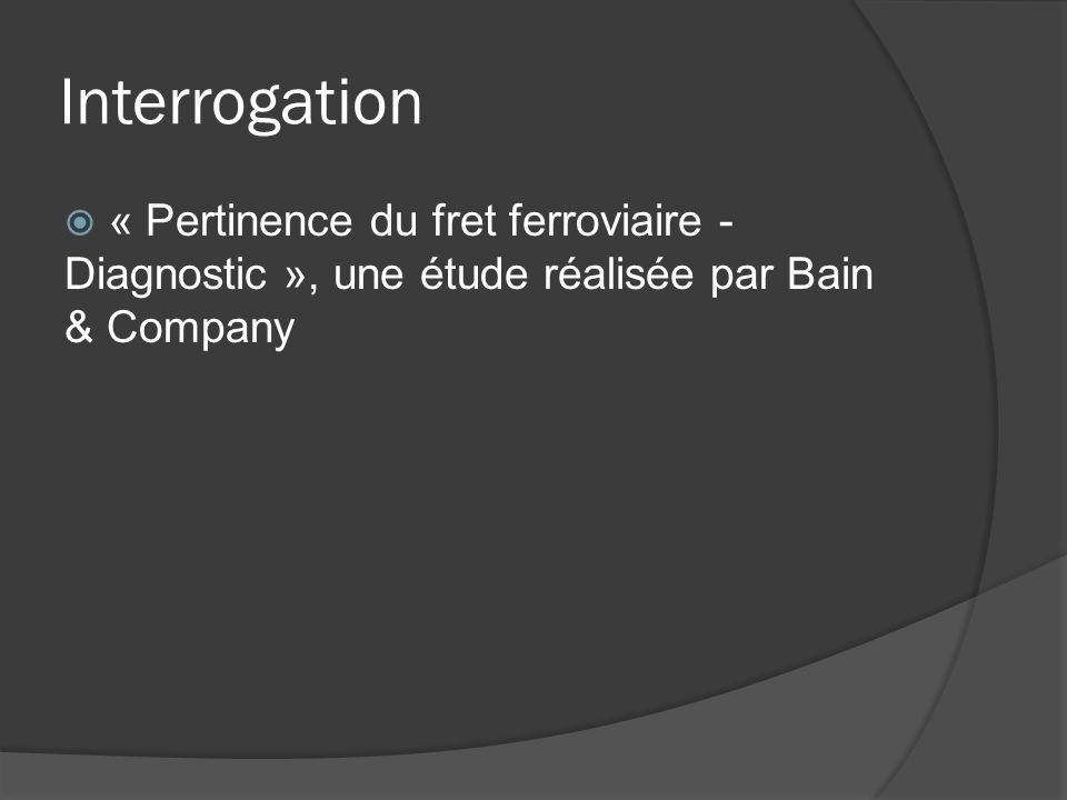 Interrogation « Pertinence du fret ferroviaire - Diagnostic », une étude réalisée par Bain & Company