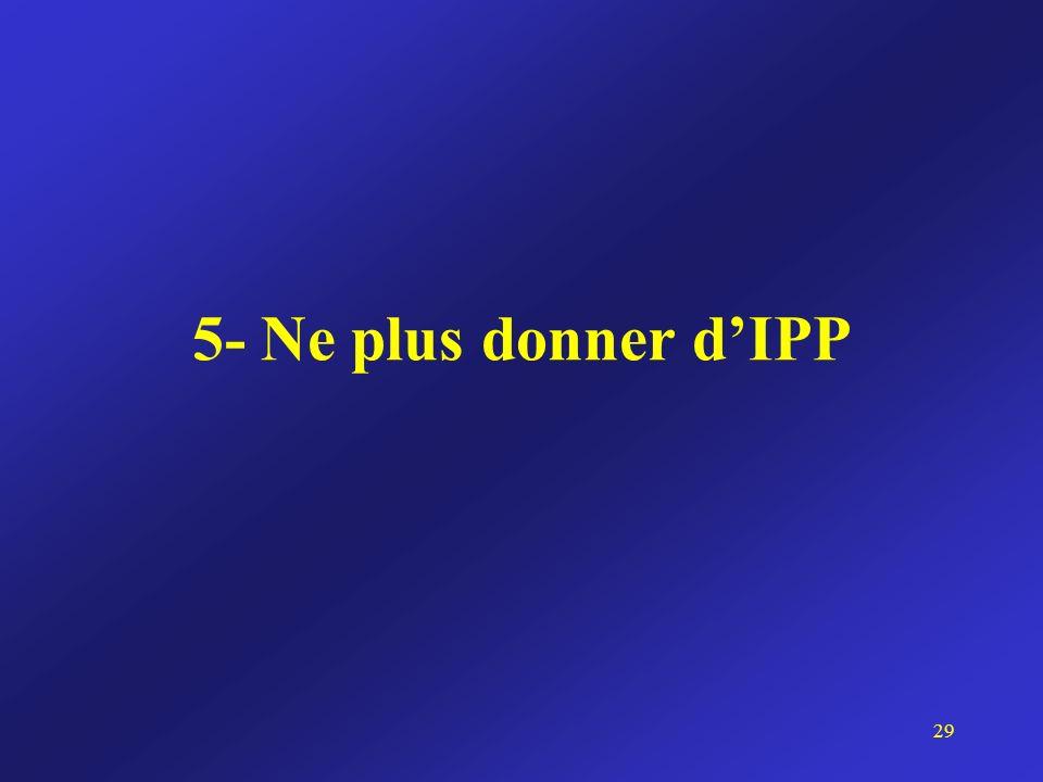 5- Ne plus donner dIPP 29