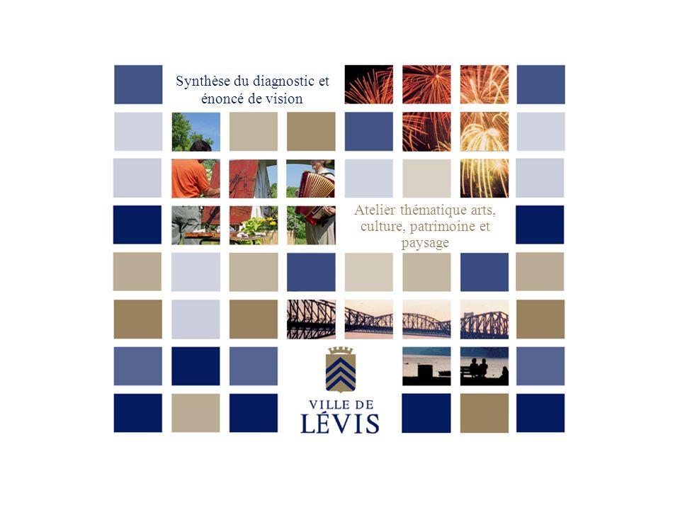 Introduction La démarche de latelier thématique « Arts, culture, patrimoine et paysage » sinscrit dans le processus délaboration de la nouvelle politique culturelle de la nouvelle Ville de Lévis.