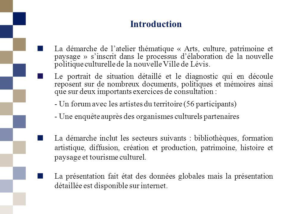 Introduction La démarche de latelier thématique « Arts, culture, patrimoine et paysage » sinscrit dans le processus délaboration de la nouvelle politi