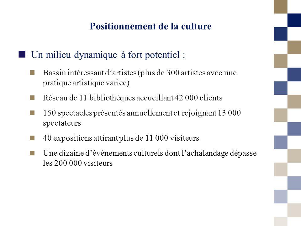 Un milieu dynamique à fort potentiel : Positionnement de la culture Bassin intéressant dartistes (plus de 300 artistes avec une pratique artistique va