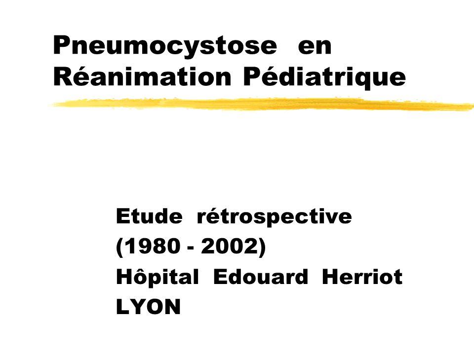 Introduction La pneumocystose (PCP) est la pneumopathie opportuniste la plus fréquente chez les patients sidéens.