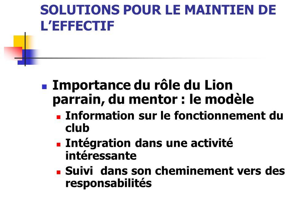 Sources importantes : LCI Services des opérations de leffectif Adresse électronique : retention@lionsclubs.org retention@lionsclubs.org 630-571-5466, poste 340