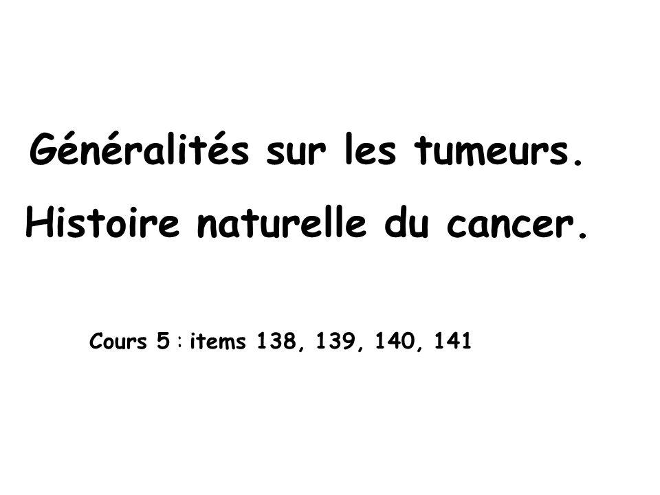 Métastases Définition : foyers tumoraux à distance de la tumeur Presque tous les cancers (except.