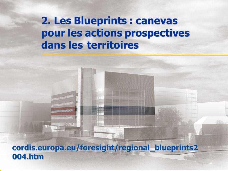 2. Les Blueprints : canevas pour les actions prospectives dans les territoires cordis.europa.eu/foresight/regional_blueprints2 004.htm
