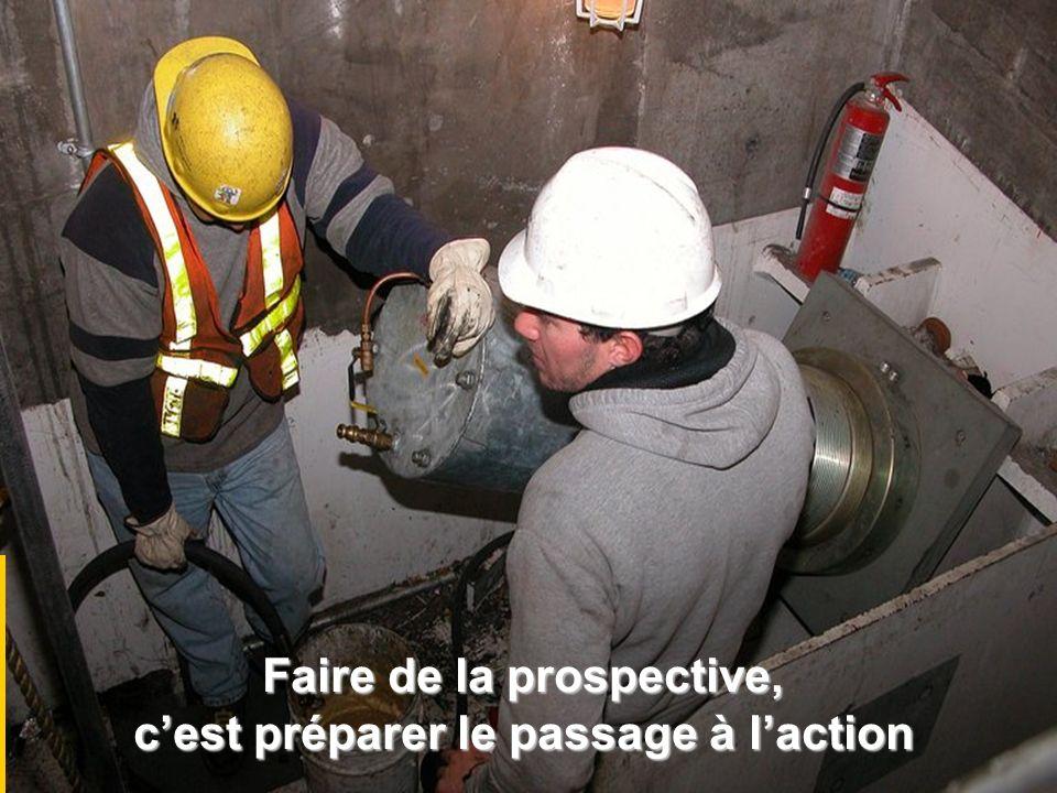 Faire de la prospective, cest préparer le passage à laction