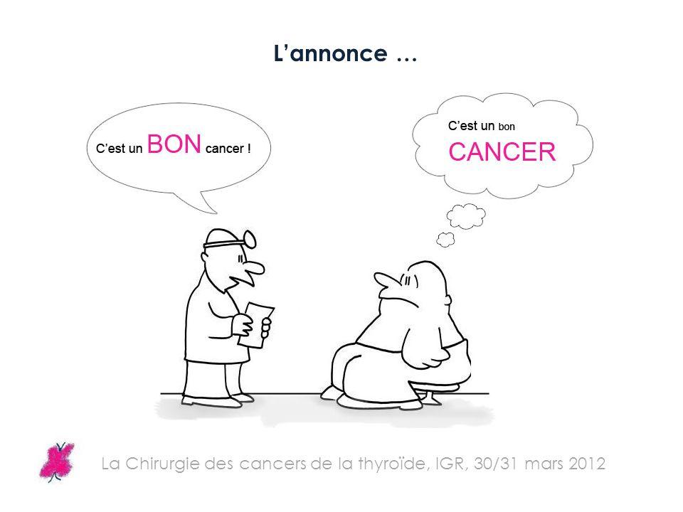 La Chirurgie des cancers de la thyroïde, IGR, 30/31 mars 2012 Lannonce …