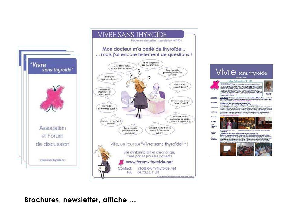 Brochures, newsletter, affiche …