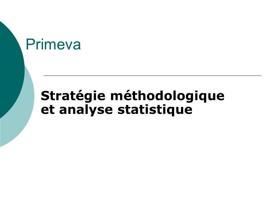 Primeva Stratégie méthodologique et analyse statistique