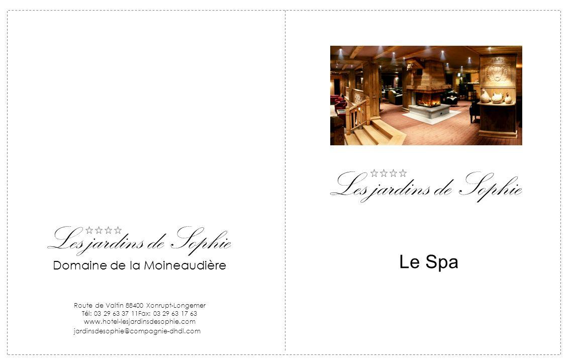 Les jardins de Sophie Domaine de la Moineaudière Route de Valtin 88400 Xonrupt-Longemer Tél: 03 29 63 37 11Fax: 03 29 63 17 63 www.hotel-lesjardinsdes