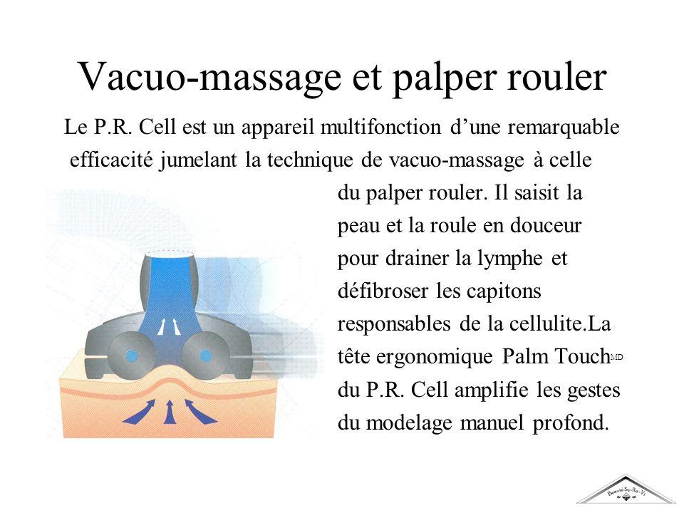 Vacuo-massage et palper rouler Le P.R. Cell est un appareil multifonction dune remarquable efficacité jumelant la technique de vacuo-massage à celle d