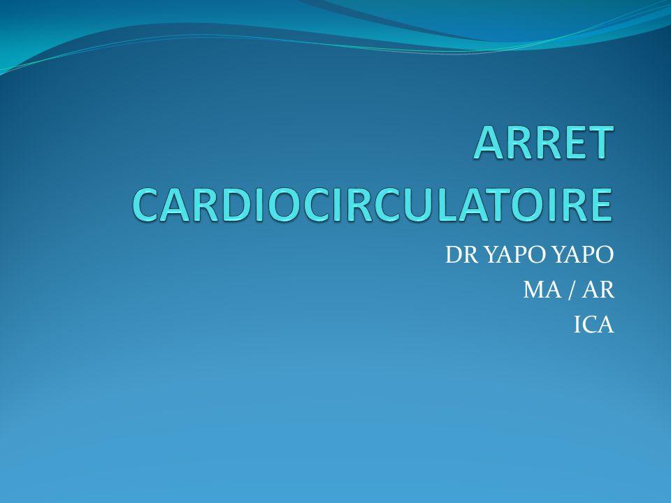 DIAGNOSTIC ECG : tracé plat, FV, absence de QRS Ne pas confondre avec : Collapsus (BDC perçus, respiration présente) Syncope ou un Coma (BDC, respiration, pouls, présents)