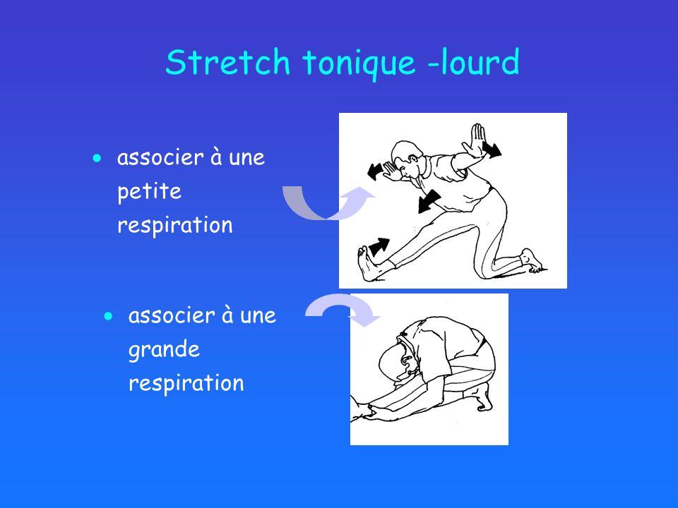 Stretch tonique -lourd associer à une petite respiration associer à une grande respiration
