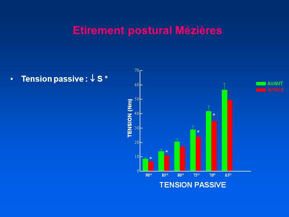 Tension passive : S * Etirement postural Mézières