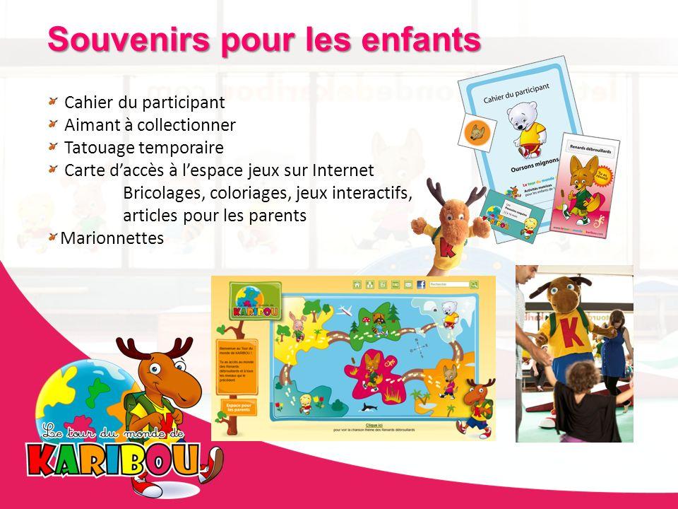 Souvenirs pour les enfants Cahier du participant Aimant à collectionner Tatouage temporaire Carte daccès à lespace jeux sur Internet Bricolages, color