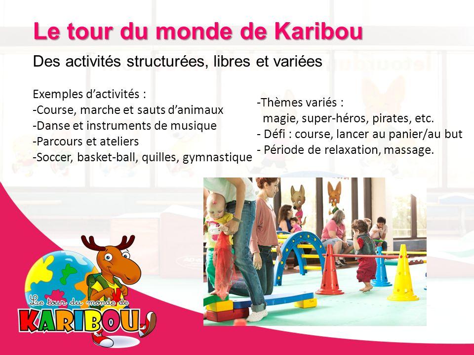 Des activités structurées, libres et variées Exemples dactivités : -Course, marche et sauts danimaux -Danse et instruments de musique -Parcours et ate