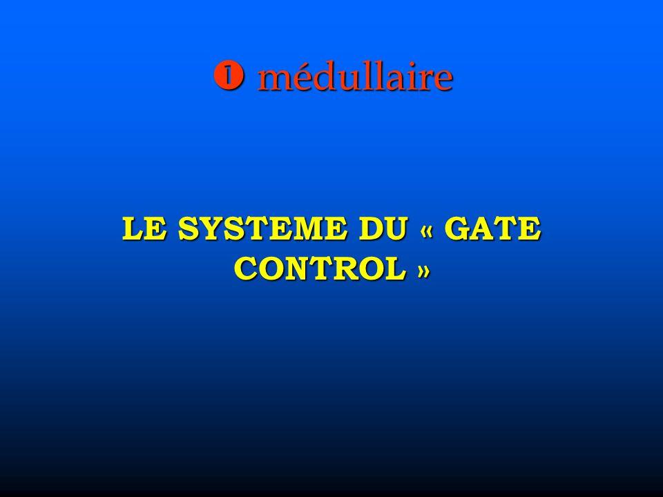 médullaire médullaire LE SYSTEME DU « GATE CONTROL »