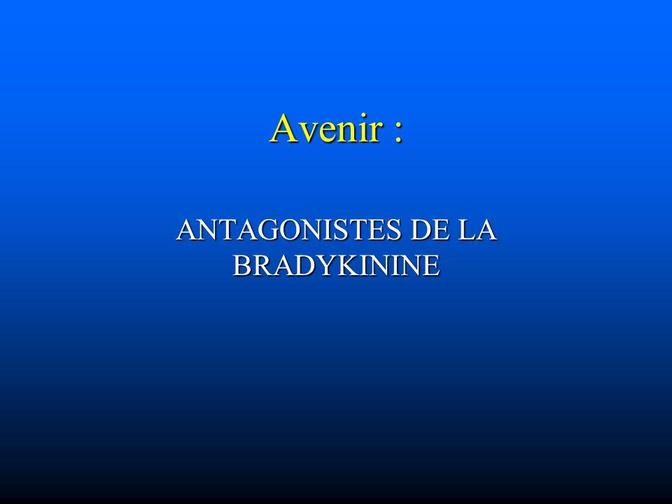 Avenir : ANTAGONISTES DE LA BRADYKININE