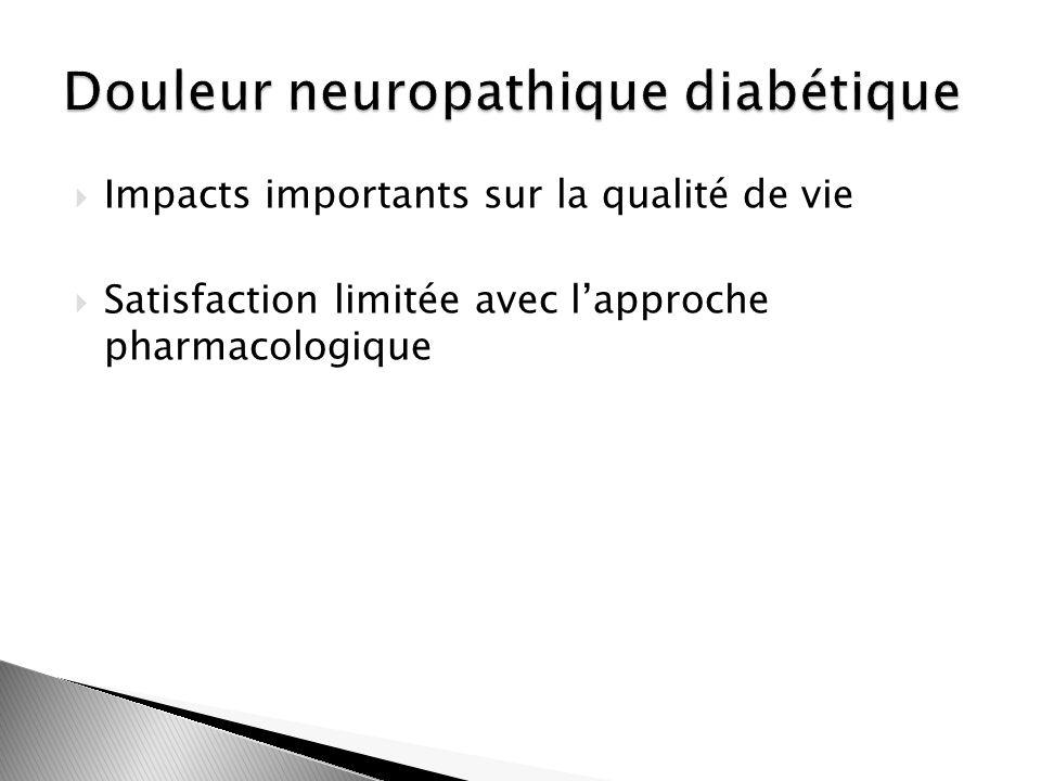 Impacts importants sur la qualité de vie Satisfaction limitée avec lapproche pharmacologique