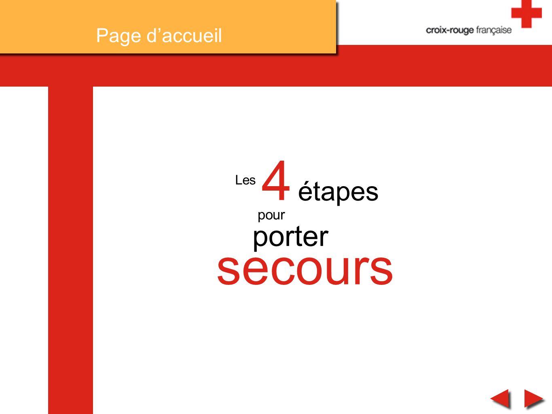 Les 4 étapes pour porter secours Page daccueil