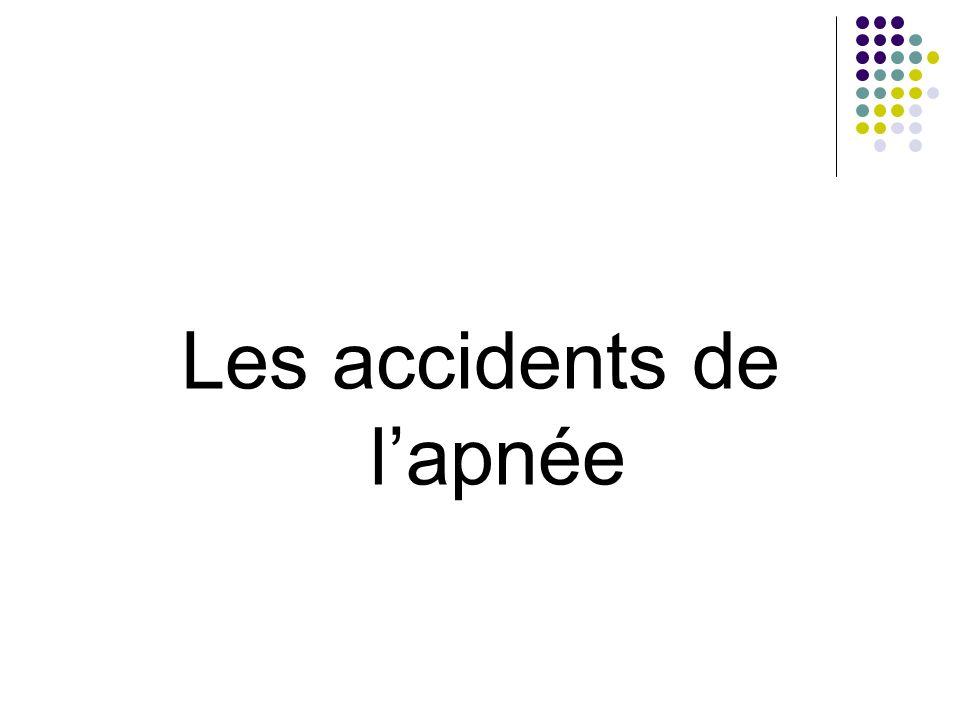 Les accidents de lapnée