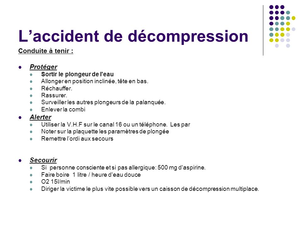 Les accidents de lapnée