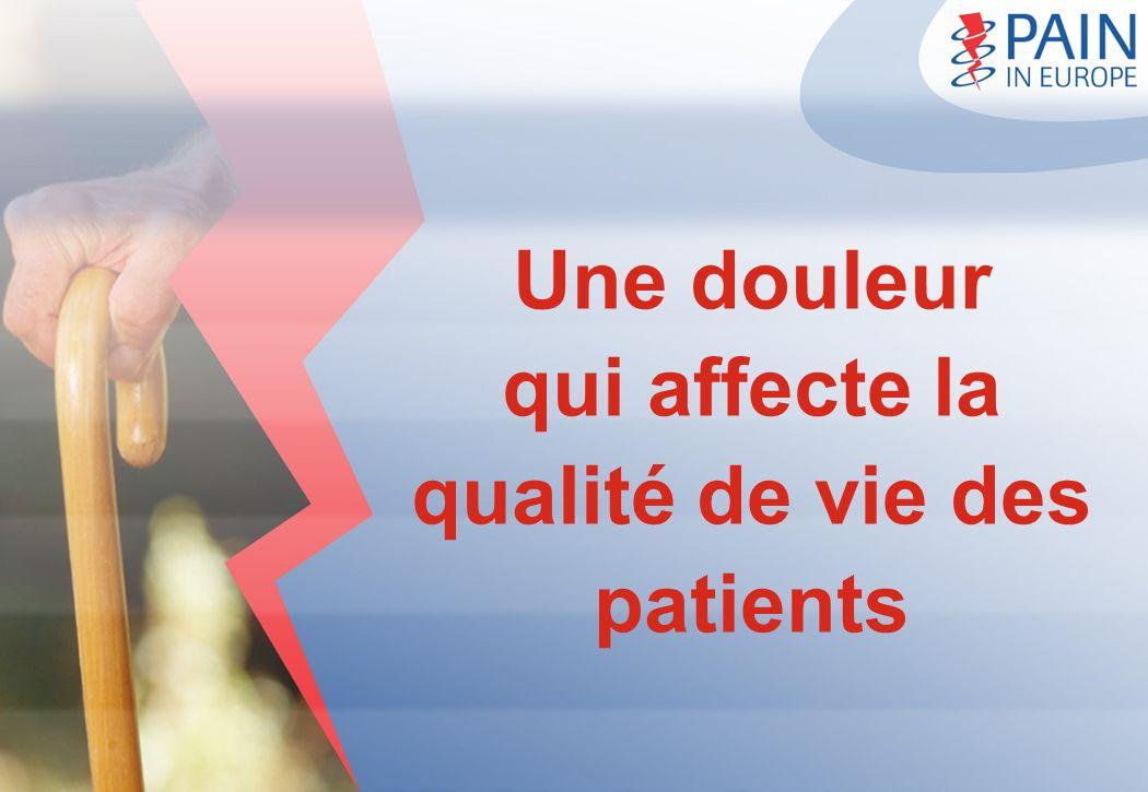Une douleur qui affecte la qualité de vie des patients