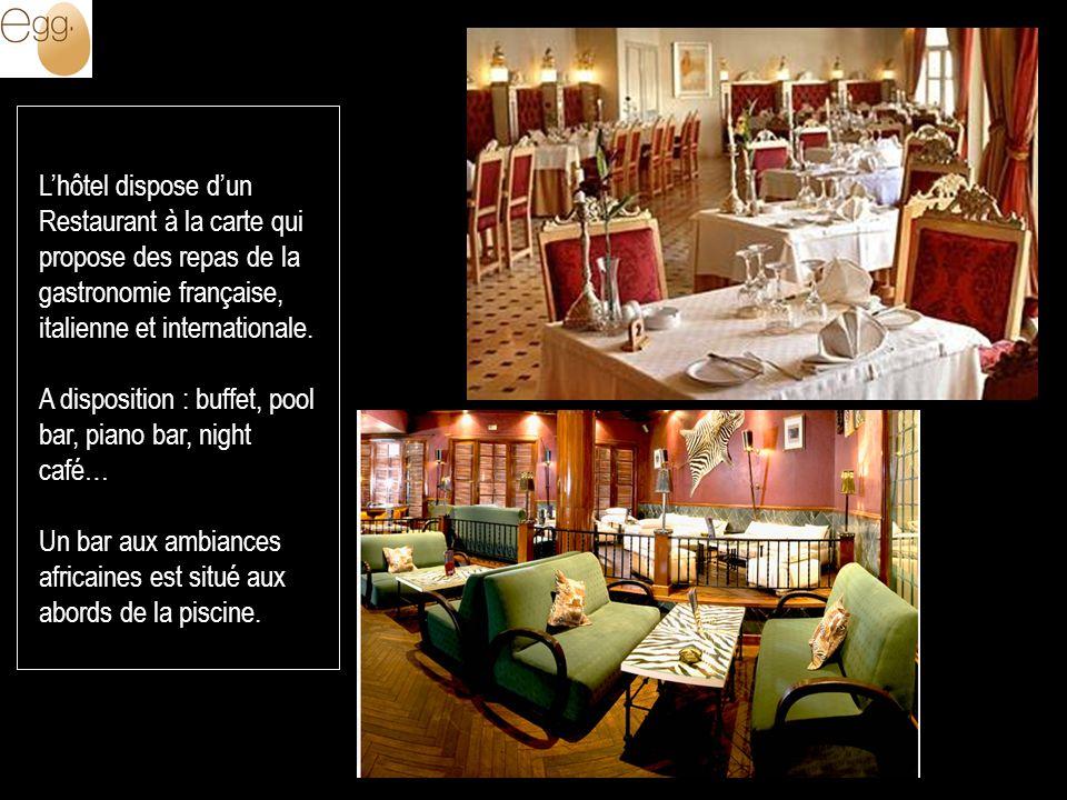 Lhôtel dispose dun Restaurant à la carte qui propose des repas de la gastronomie française, italienne et internationale.