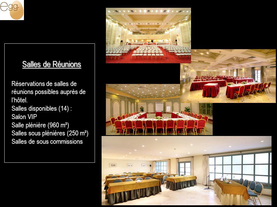 Salles de Réunions Réservations de salles de réunions possibles auprès de lhôtel.