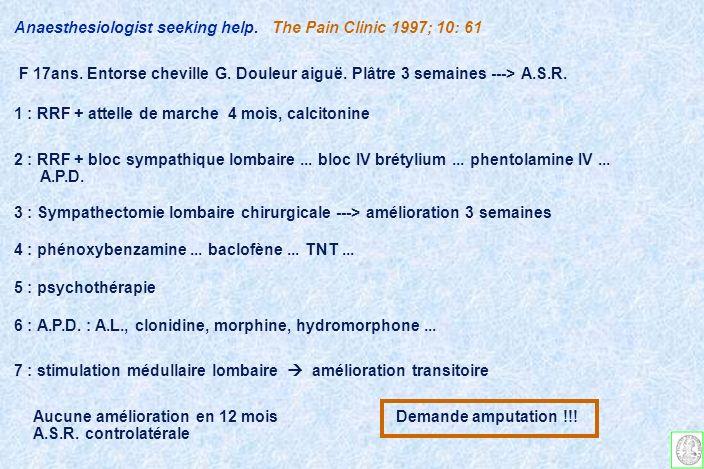 ALGODYSTROPHIES Syndromes douloureux régionaux complexes intervention chirurgicale à risque dalgodystrophie LALR modifie t-elle lévolution.