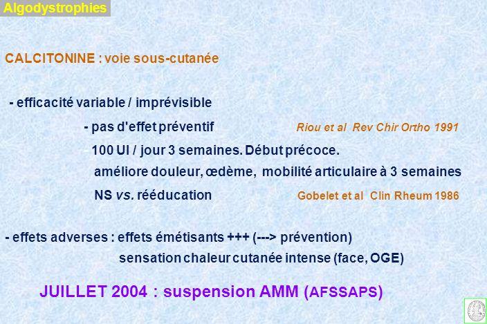 ANALGESIE PERIOPERATOIRE A.L.bloquent conduction / fibres A et C A.L.
