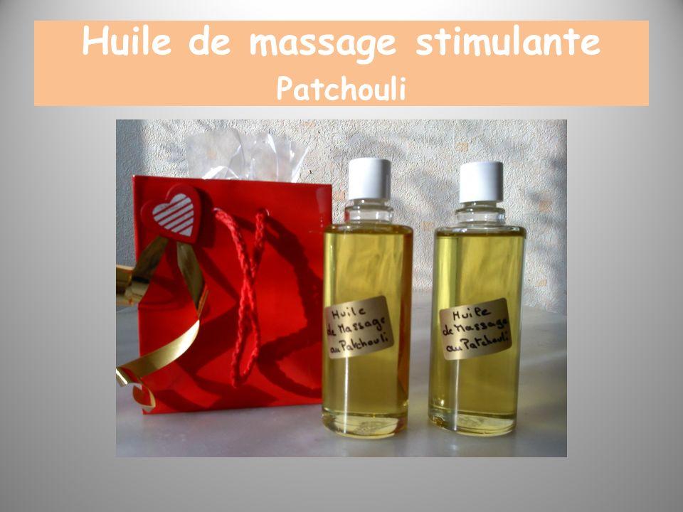 Huile de massage stimulante Patchouli