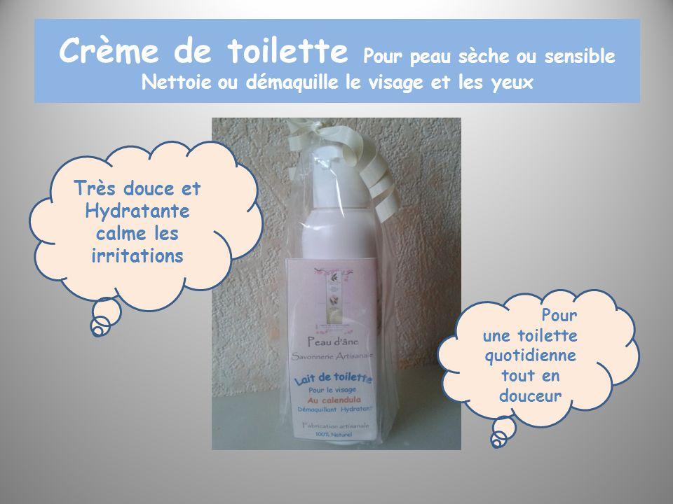 Crème de toilette Pour peau sèche ou sensible Nettoie ou démaquille le visage et les yeux Très douce et Hydratante calme les irritations Pour une toil