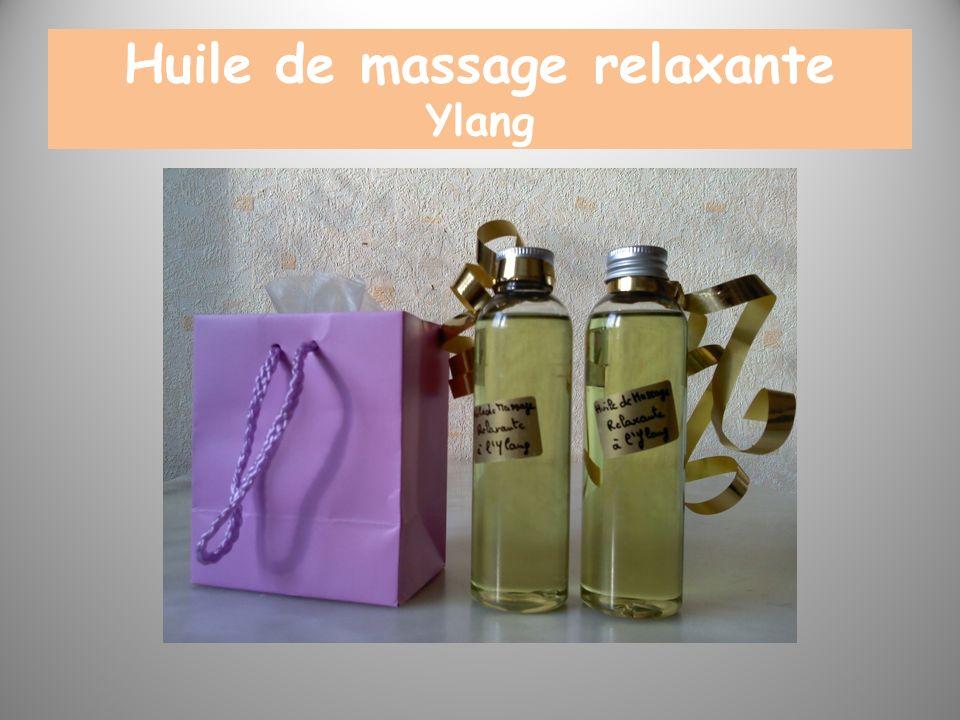 Huile de massage relaxante Ylang