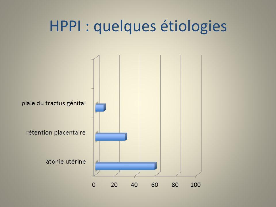 HPPI : quelques étiologies