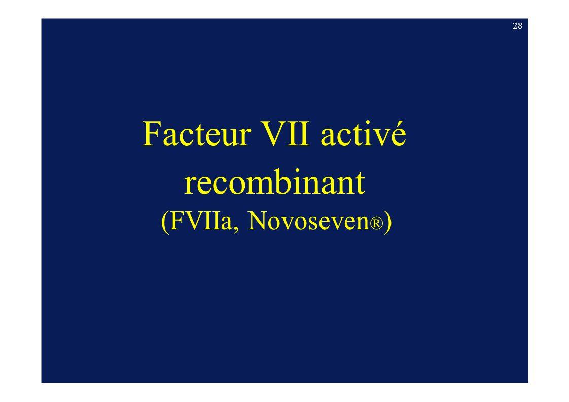 Facteur VII activé recombinant (FVIIa, Novoseven ® ) 28